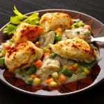 فطائر الدجاج بالخضروات